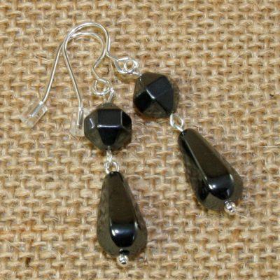 Hematite Drop Earrings