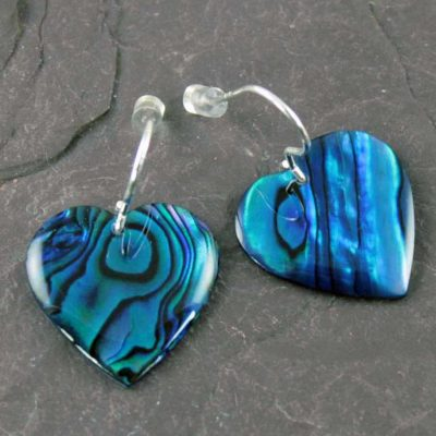 Abalone-Blue-Heart-Earrings