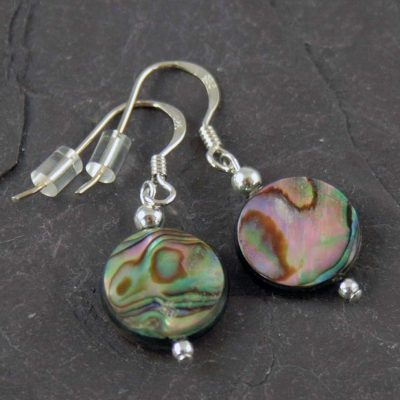 Abalone-Round-Earrings