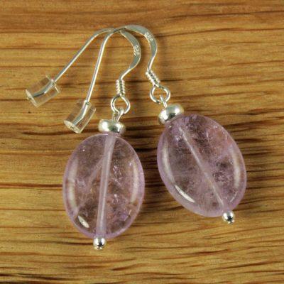Amethyst-Oval-Earrings