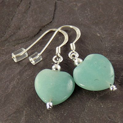 Amazonite-Heart-Earrings