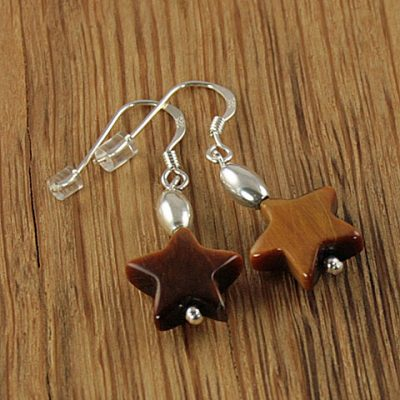 Tigers-Eye-Star-Earrings