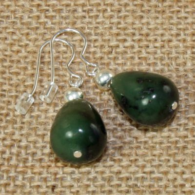 Jade Chunky Peardrop Earrings