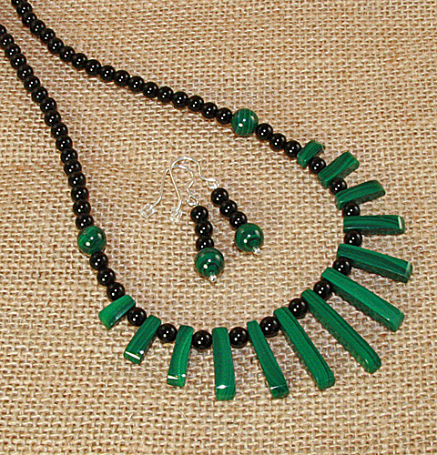 Malachite-and-Agate-Set