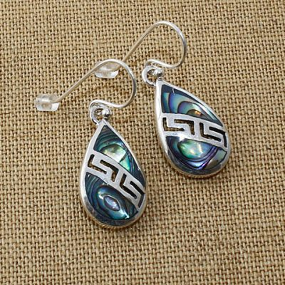 Abalone-tear-earrings