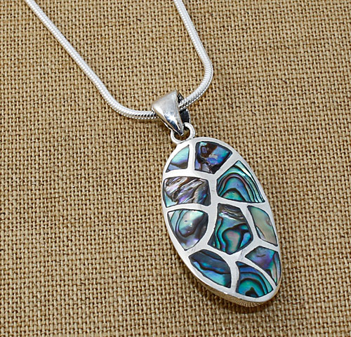 Abalone-ripple necklace