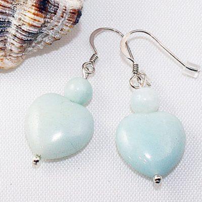 Amazonite-Heart-Earrings