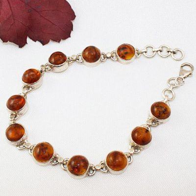 Amber-Bracelet-round-stones##