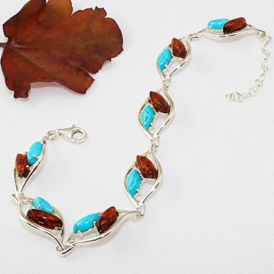 Amber-and-Turquoise-bracelet#