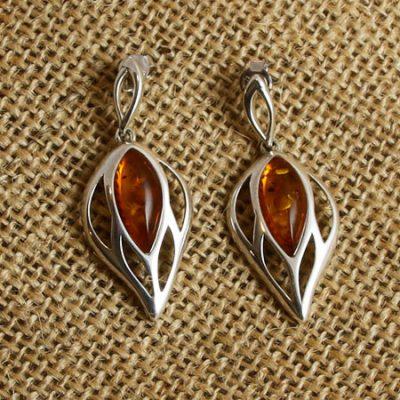Amber-large-leaf-earrings