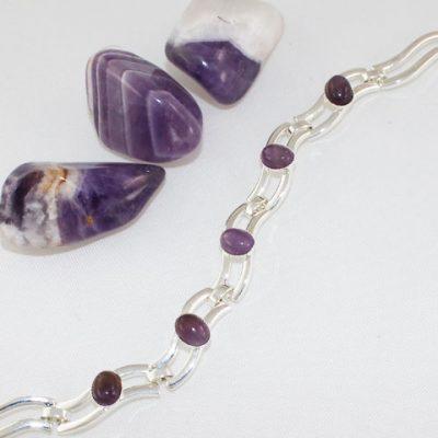 Amethyst-5-Stone-Bracelet