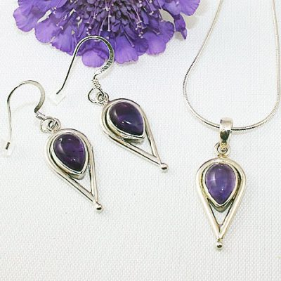 Amethyst-Inverted-Teardrop--Necklace-and-Earrings