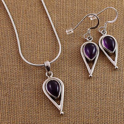 Amethyst-Inverted-Teardrop-Set