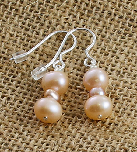 Apricot-Pearl-earrings