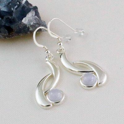 BLue-LAce-Agate-Wave-Earrings