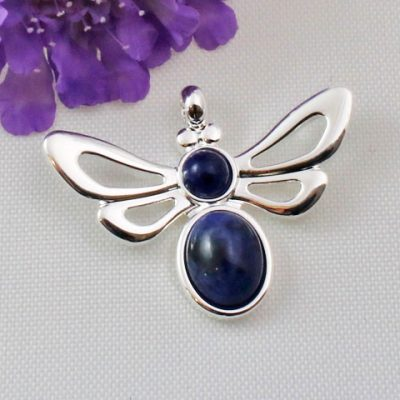 Bee-Necklace-Sodalite