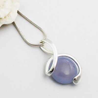 Blue-Chalcedony-Stone-Wrapped-Pendant