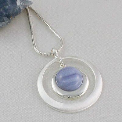 Blue-Lace-Agate-Satin-Circle-Pendant