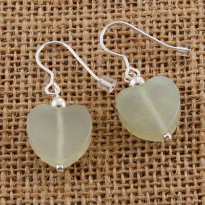 Bowenite-Heart-Earrings