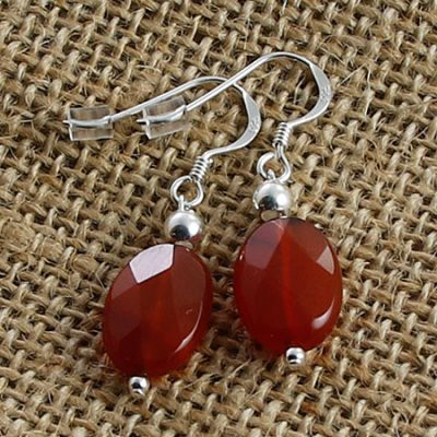 Carnelian-Faceted-Ovals