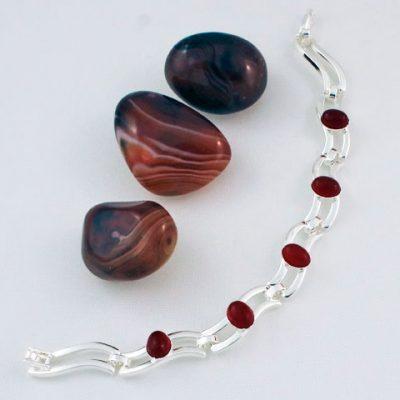 Carnelian-Five-Stone-Bracelet