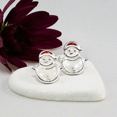 Enammelled-Snowman-Stud-Earrings.