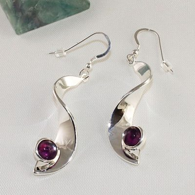 Fluorite-Drop-Earrings