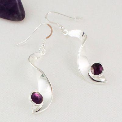Fluorite-Drop-Earrings