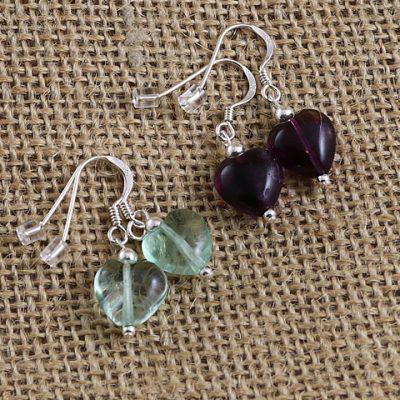 Fluorite-Heart-Earrings