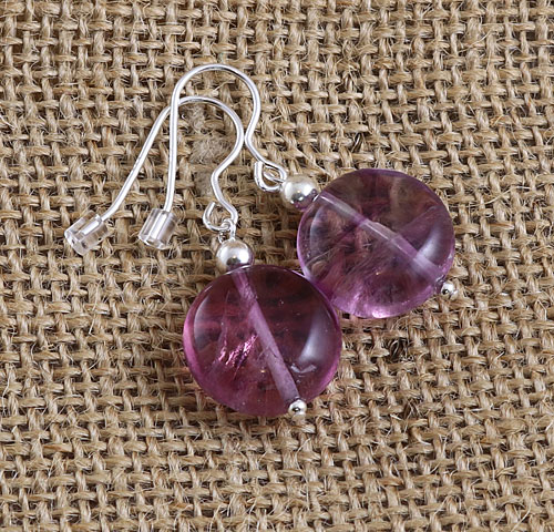Fluorite-Large-Round-Earring