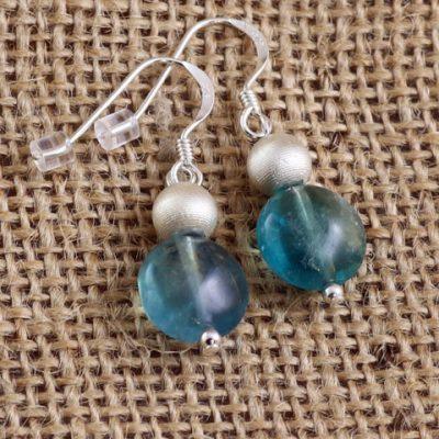 Fluorite-Round-Earrings