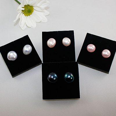 Freeform Pearl Stud Earrings