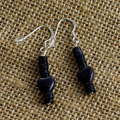 Blue-Goldstone-Earrings