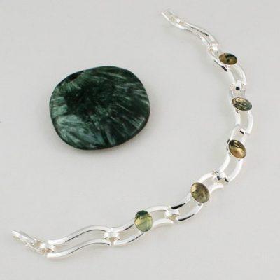Moss-Agate-Five-Stone-Bracelet