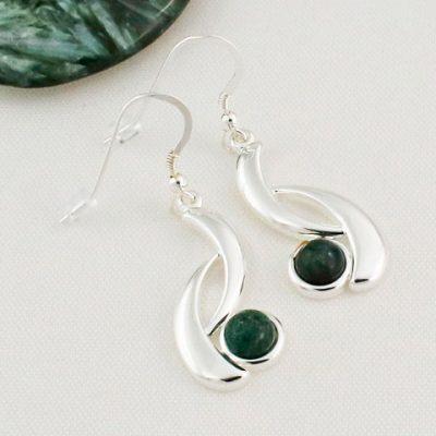 Green-Moss-Agate-Wave-Earrings