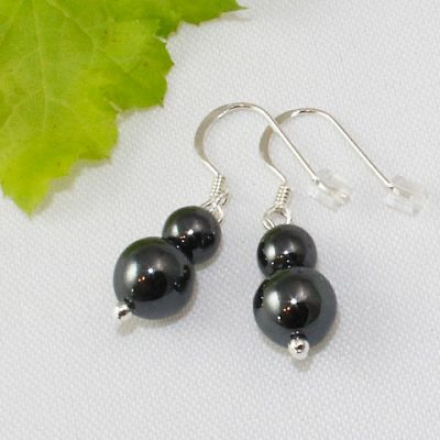 Hematite Graduated Bead Earrings