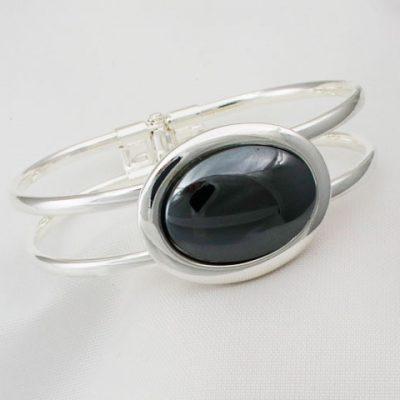 Hematite-Oval-Bangle