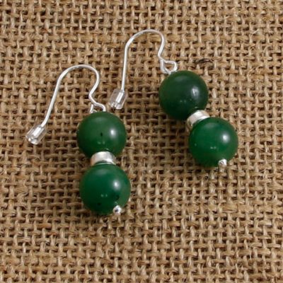 Jade-double-bead-earrings