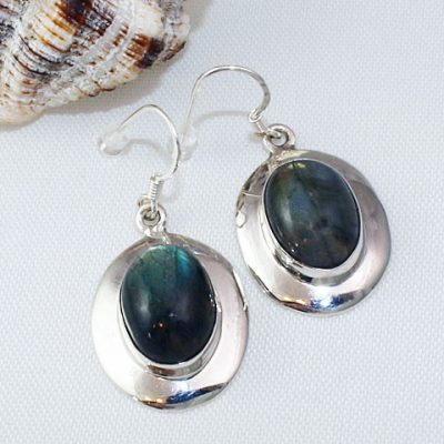 Labradorite-Earrings