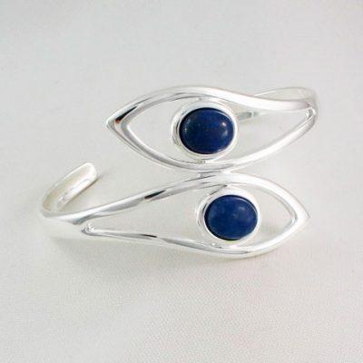 Lapis-Lazuli-Double-Stone-Bangle