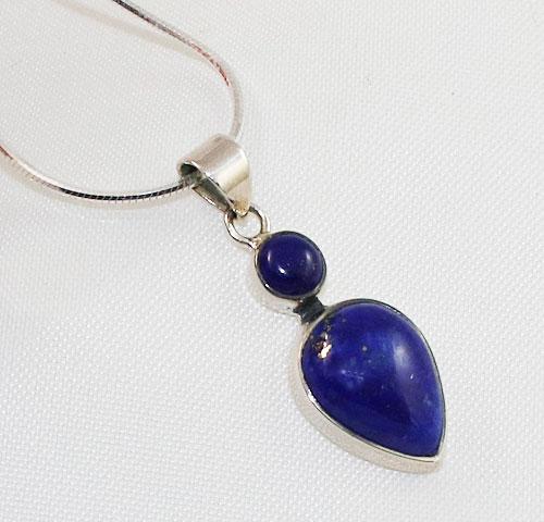 Lapis Lazuli Double Stone Pendant