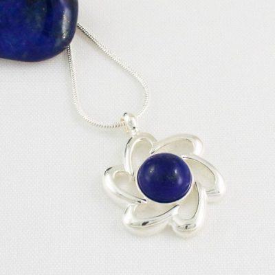 Lapis-Lazuli-Flower-Pendant