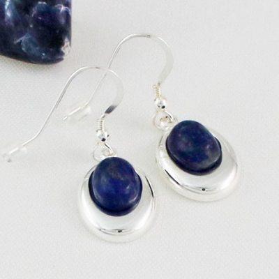 Lapis-Lazuli-Offset-Oval-Earrings