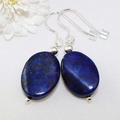 Lapis-Lazuli-Oval-Earrings