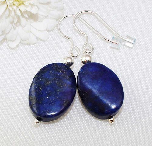 Lapis-Lazuli-Oval-Earrings