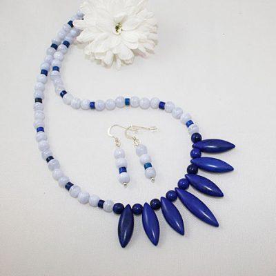 Lapis Lazuli and Blue Lace Agate