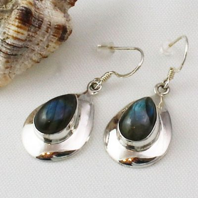 Laradorite-Peardrop-Earrings