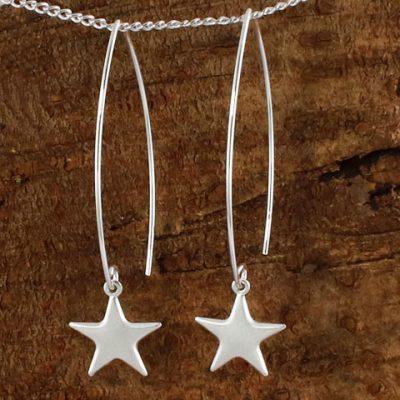 Long-Wire-Star-Earrings