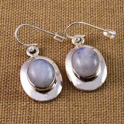 Moonstone Oval Earrings