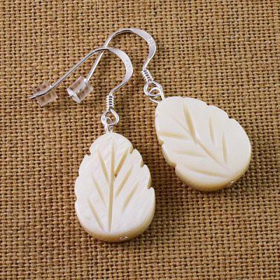 MOP-Leaf-Earrings